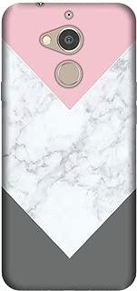 Cekuonline General Mobile GM 8 Kılıf Desenli Esnek Silikon Telefon Kabı Kapak - Beyaz Gri Mermer