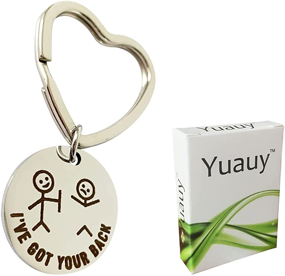 Yuauy Friendship keychain I Got Your Back Gift for BFF Daughter Son Inspirational Keyring Motivational Gift Best Friend Gift