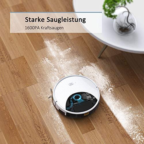 Saugroboter,TESVOR X500pro Saug-Wischroboter 2 in 1 Intelligente Gyroskope-Navigation Reinigungsroboter 350ML elektronischer Wassertank Reinigungsanzeige in Echtzeit für Glattböden - 5