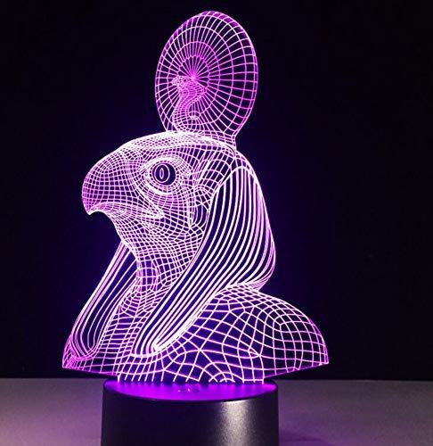 Egypte Anubis 3D LED lampe nuit lumière illusion couleur changé cadeau de jouet de Noël USB lumières drop shipping 7 couleurs changement, commutateur 3 couleurs