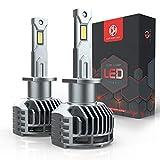 Ampoule H1 LED, 20000LM 130W Phares pour 12V Voiture, 6500K Xénon Blanc