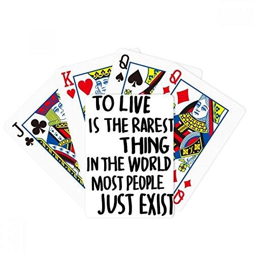 La mayoría de la gente Just Exist Cita Poker Jugando Magic Card Fun Juego de mesa