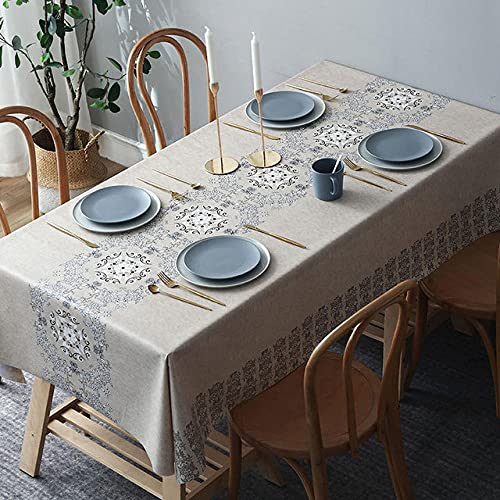 para Mesa,Mantel Rectangular, Mantel Impreso Antiincrustante, Mantel De Cocina Moderno-1,35 × 55in (90 × 140cm)