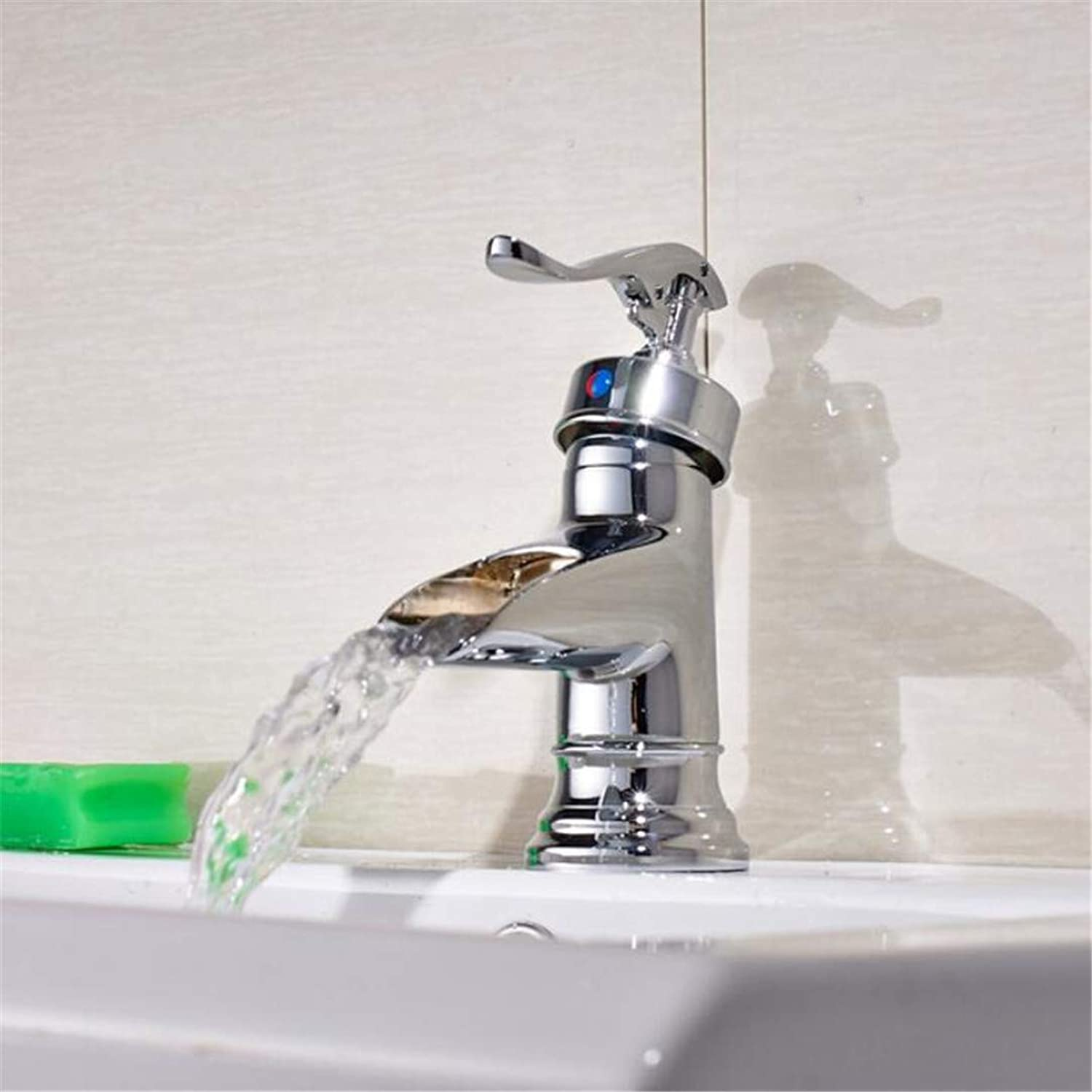 Faucet Washbasin Mixer Deck Mounted Bathroom Sink Faucet Single Handle Mixer Tap Nickel Brushed Finished