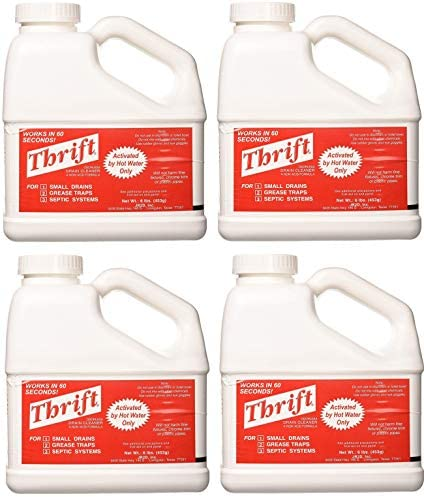 THRIFT T 600 Alkaline Based 6 lb Granular Drain Cleaner 4 Pack product image