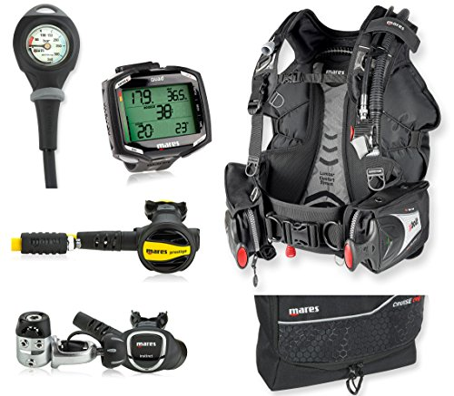 Mares Bolt BC, Instinct Regulator, Quad Dive Computer, Scuba Gear Package