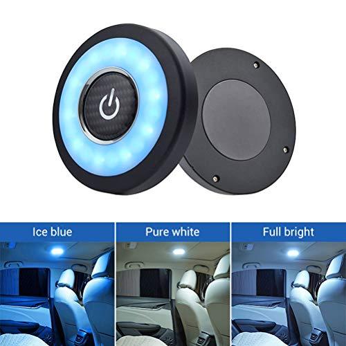 Fyeep Iluminación ambiental para coche, lámpara LED de lectura para el interior del coche, lámpara de techo magnética, lámpara de luz nocturna LED, luz nocturna para el maletero, lámpara de lectura