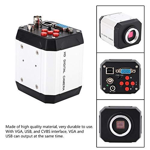 Microscoop camera, industrie microscoop camera set 2MP industrie microscoop camera C-Mount videocamera VGA USB CVBS interface industrie microscoop camera, veel accessoires (EU 220V)