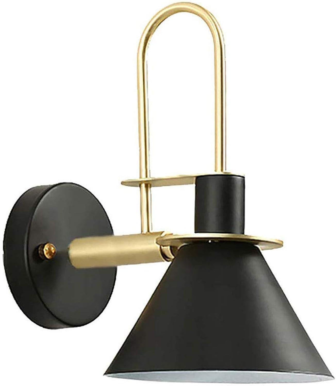 Modern Innen Designer Wandleuchte aus Metall E27 Schwarze, Wandlampe Nachttischlampe Spiegelleuchten Leseleuchte, Beleuchtung für Treppen Schlafzimmer Flur Esszimmer Waschraum