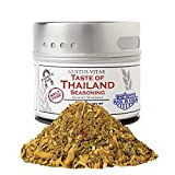 Taste of Thailand Seasoning   Non GMO Verified   Magnetic Tin   Spice Blend   1.4oz   Crafted in Small Batches by Gustus Vitae   #28