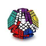 Hann Megaminx Pyraminx Speed Cube 2x2 3x3 Kilominx Megaminx Pyramid Dodecahedron Black Magic Cube Puzzle Games Twist Fidget Toys (5x5 Megaminx Black)