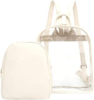 Wultia - Transparent Backpack Women Bookbag Candy Clear Jelly Women Travel Backpack Purse Crystal Beach Bag Portable Women Jelly Bags #G8 White
