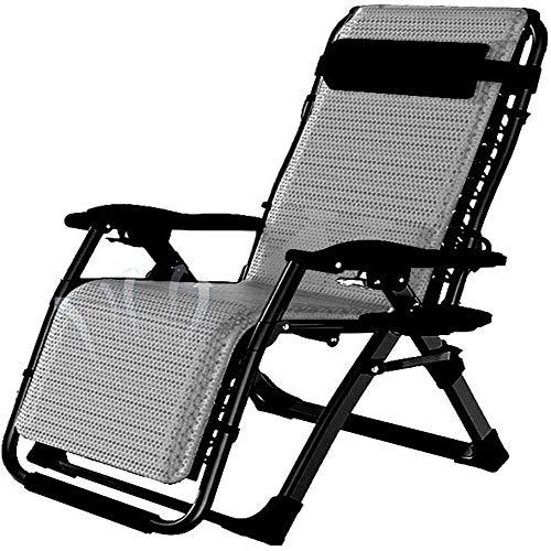BSJZ Sillón reclinable Plegable Ajustable para Vacaciones, jardín, Playa, Patio, salón, Camping, al Aire Libre, sillas de jardín reclinables portátiles, soporta 200