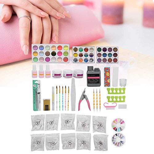Nail Art Set, Nail Art Tool Kit avec Professional Nail Art Tips UV Gel Pen File Strass Ciseaux et Nail Dotting Pen Idéal pour Nail Salon et usage individuel