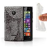 Stuff4 Phone Case for Microsoft Lumia 532 Black Fashion