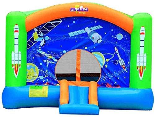 FGVDJ Tobogán para niños Tobogán Inflable Niños al Aire Libre Cama pequeña rebotante Casa Trampolín Cuadrado al Aire Libre Zona de Juegos para niños Grande