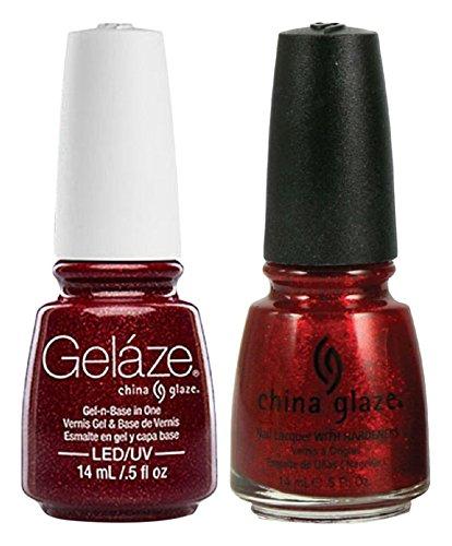 China Glaze Gelaze Tips and Toes Nail Polish, Ruby Pumps, 2 Count