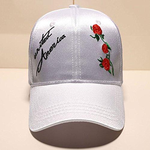 Lrxq hoed dames stijl casual trend zomer steek borduurwerk vizier honkbalmuts