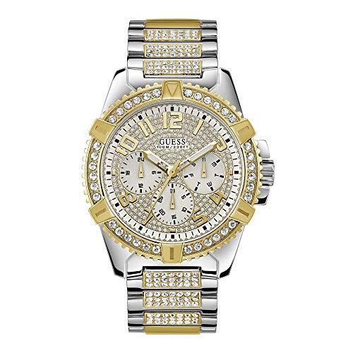 Guess Frontier - Armbanduhr - Quarzuhr - Herrenuhr - Multifunktion - Edelstahl - silber- / goldfarben - poliert