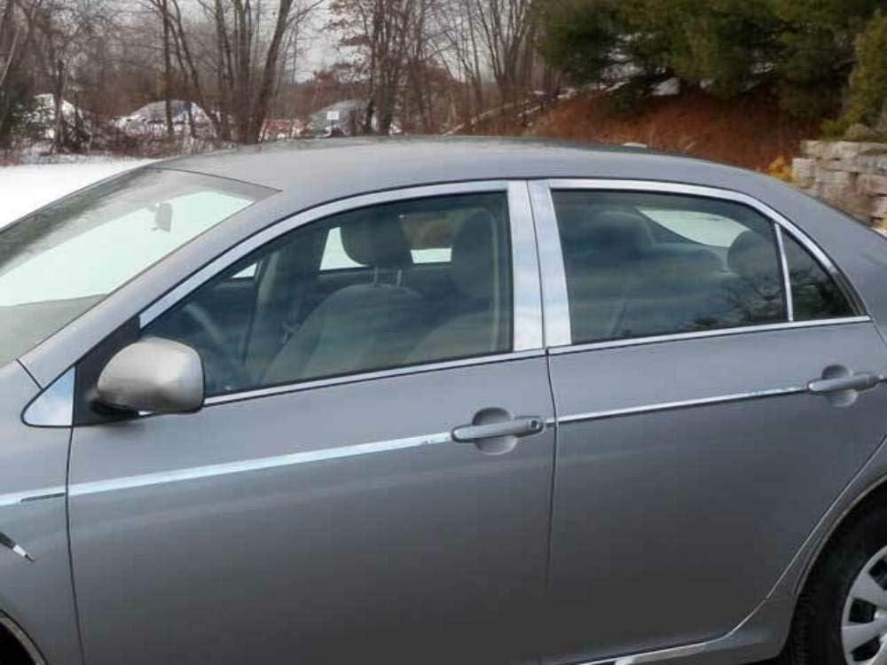 信用 QAA fits 別倉庫からの配送 2009-2013 Toyota Corolla Stainless Trim Piece Window 16