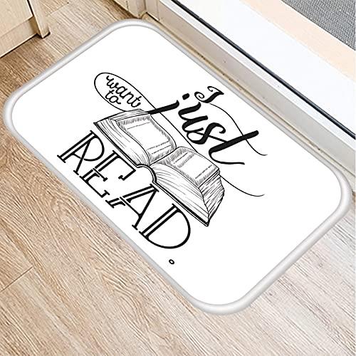 OPLJ Patrón de impresión de Libro Creativo, Alfombra de Puerta de Entrada de Cocina, Alfombra de Piso Interior Alfombra Antideslizante Alfombra de Puerta A13 40x60cm