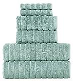 Classic Turkish Towels - 6 Piece Luxury Bath Towels Set...