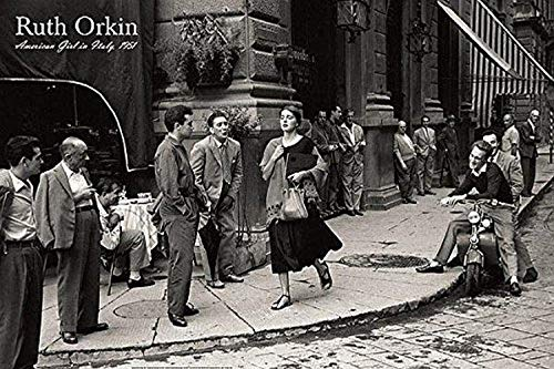 Buyartforless an American Girl in Italy, 1951 by Ruth Orkin 36x24 Photograph Art Print Poster