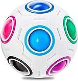 XMD Rainbow Puzzle Ball Würfel mit 11 Kugeln Geschicklichkeitsspiel Fidget Toy Kleine Geschenke für Mädchen Jungen Kinder Erwachsene