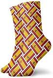 Calcetines casuales de España Bandera de tejido de tobillo Calcetines Vestido corto Calcetines de compresión para mujeres Hombres