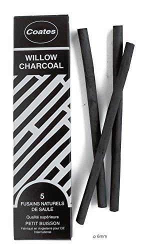Coates - Lote de 5lápices carboncillos 6mm 6 mm negro ✅