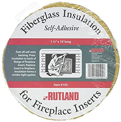 """Rutland Products 1111 Fireplace Insert Insulation Fiberglass, 1-1/2-Inch by 10-Feet, 1-1/2"""" x 10', Yellow by Rutland Products"""