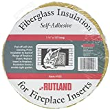 Rutland Products 1111 Fireplace Insert Insulation Fiberglass, 1-1/2-Inch by 10-Feet, 1-1/2' x 10', Yellow