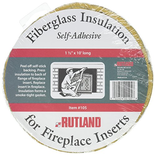 Cheapest Prices! Rutland Fireplace Insert Insulation Fiberglass, 1-1/2-Inch by 10-Feet