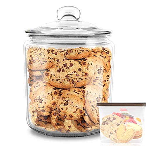 MASTERTOP Bocal en Verre 3,9 L avec Couvercle Hermétique Grand Pot en Verre de Conservation Alimentaire Récipient Jar Scellé pour Cuisine