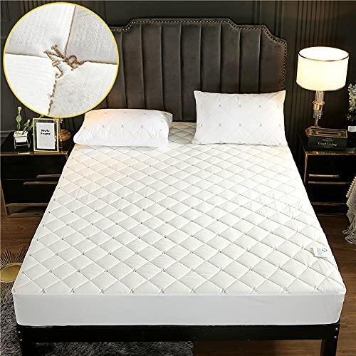 HAIBA Sábana bajera ajustable de algodón, sábana bajera ajustable de algodón, sábana bajera de satén suave de lujo, tamaño pequeño, 200 x 220 x 30 cm
