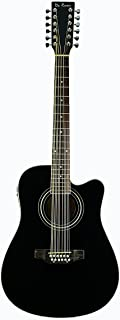 de rosa 12 string guitar black