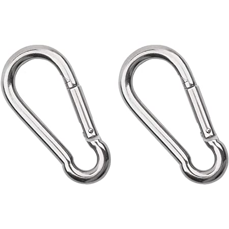 Details about  /Stainless Steel Carabiner Key Chain Keychain Clip Hook Hiking Outdoor D6M0