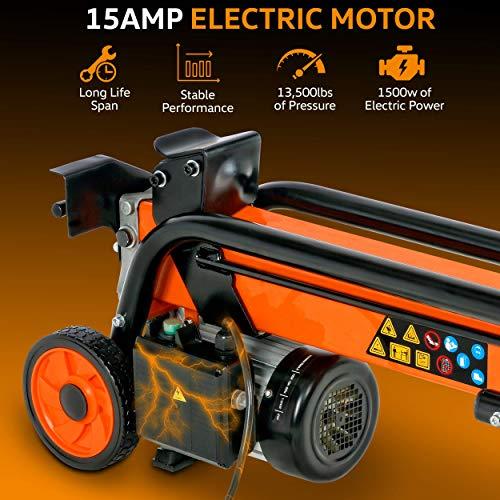 SuperHandy 6-Ton 1500-Watt Portable Electric Log Splitter