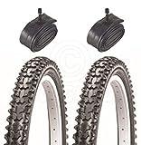 2pneus de vélo pneus de vélo-VTT-26x 26x 1,95-avec Schrader tubes