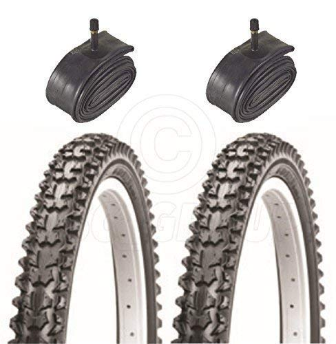Vancom 2 Bicycle Tyres Bike Tires - Mountain Bike - 26 x 1.95 - With Schrader Tubes