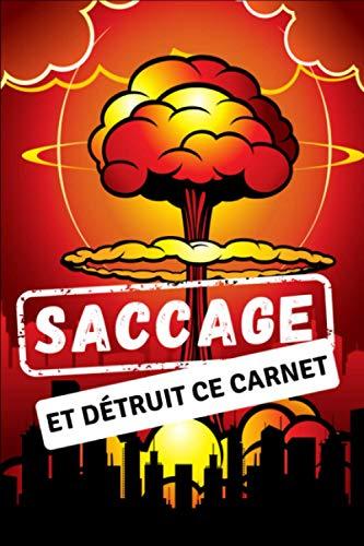 Saccage et détruit ce Carnet: Détruit ce journal - Saccage ce carnet - Français -120 pages pour se défouler - Style bande dessiner