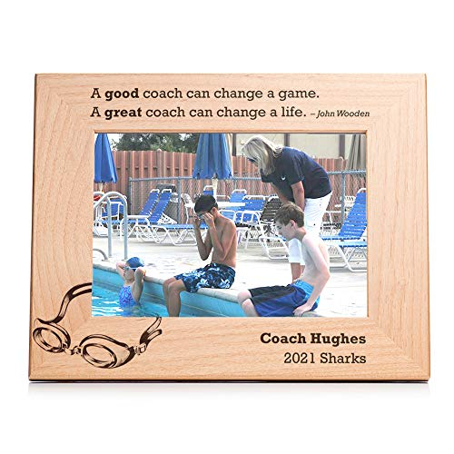 Lifetime Creations Engraved Personalized Swimming Coach Picture Frame (5