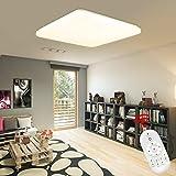 Froadp - Lámpara de techo LED ultrafina, cuadrada, diseño moderno, plana, para cuarto de baño, cocina, habitación de los niños, salón, dormitorio