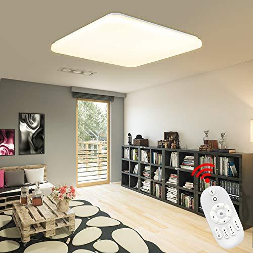 HENGMEI 24W Lámpara de techo LED Ultradelgado Plafón de techo Dimmable LED Integrado Iluminación Interior para Pasillo Salón Cocina Dormitorio