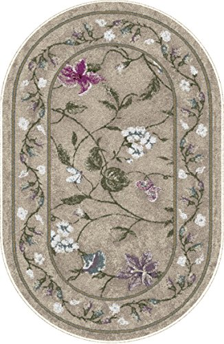 Brumlow MILLS Butterfly Floral Area Rug for Kitchen, Living Room or Home Accent Carpet, 30