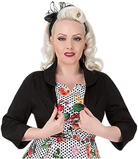 Hearts & Roses London Women's Black Cotton Bolero