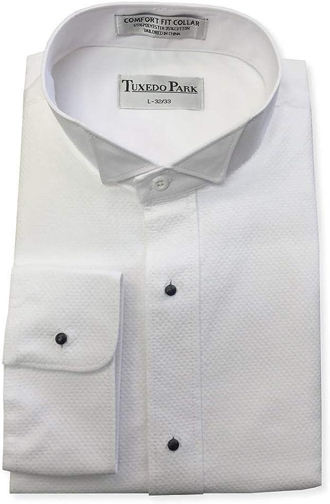 Pique Superlatite Wing Collar Tuxedo Shirt x XL White 37 Brand Cheap Sale Venue 36