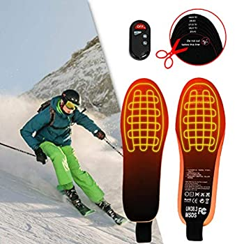 Semelles chauffantes, Semelles chauffantes rechargeables USB, Chauffe-pieds, Couper les semelles thermiques lavables pour chaussures Semelles pour la chasse hivernale, le ski, la pêche, la randonnée