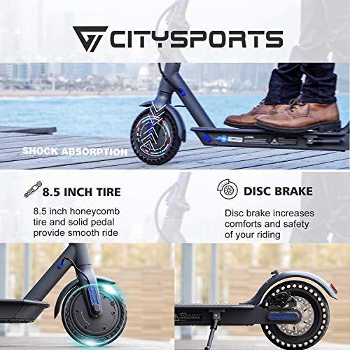 CITYSPORTS Elektroroller 8,5 Zoll, E-scooter Faltbarer Roller mit APP & Bluetooth, Akku 7,5 Ah Langlebig, 350 W, Elektro Scooter Erwachsener Ultraleicht - 2