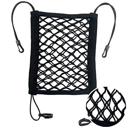 Zhongkai Car Mesh Organizer - 3 Layers Back Seat Elastic Cargo String Net Pouch Holder for Bag Luggage Pets Kids Barrier Disturb Stopper